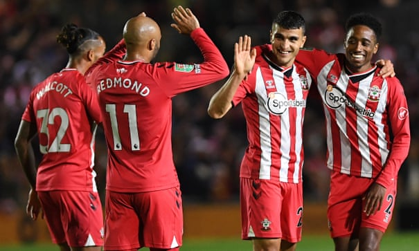 Mohamed Elyounoussi's hat-trick seals Southampton's rout of Newport