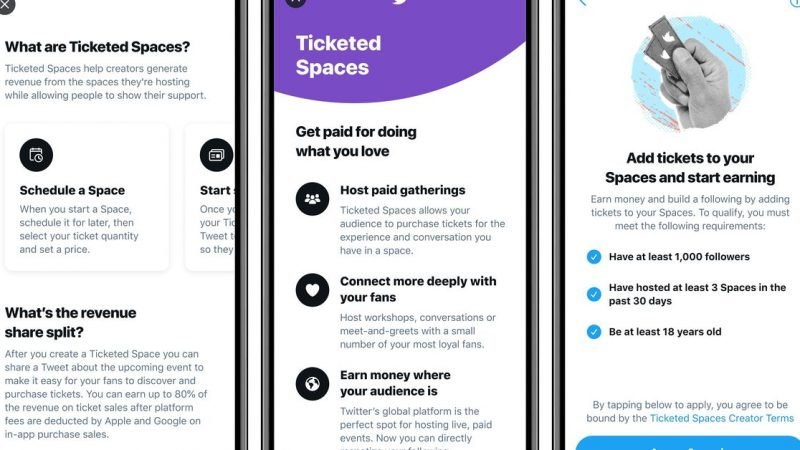 Twitter starts launching Ticketed Spaces for some iOS users